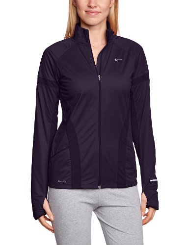 Nike Damen Jacke Element Shield Full-Zip, Purple Dynasty/Reflective Silver, L (Element Jacke Nike)