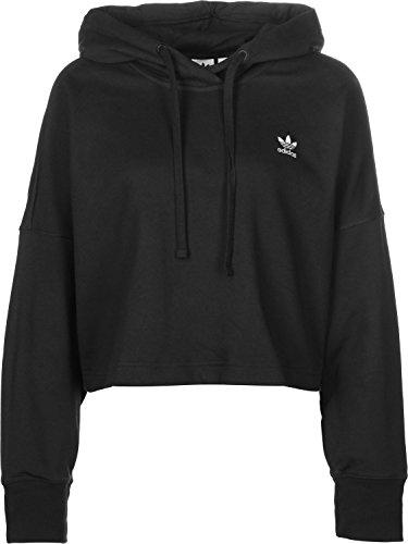 adidas SC Cropped Hood Sweatshirt, Damen, Schwarz (Schwarz)