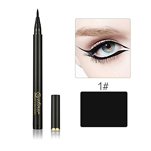 Beauté Maquillage Silky Slim Eyeliner Pen Eyeliner Soft Cool Black Fibres Dry Quickly Eyeliner Pen Anti-transpiration imperméable Glitter Eye Liner Crayon