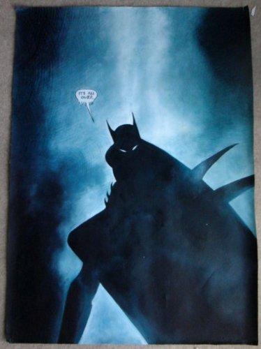 Batman Dark Knight Ölgemälde 30x 20handbemalt Stück Kunst, nicht ein Giclée-, Poster oder Bedruckte Leinwand. Dies ist eine schöne Wiedergabe des ein klassisches Stück Kunst. Züge und Textur sind klar, und Dies ist weniger ein Massenproduktion Poster und mehr ein Stück Kunst, gerahmt, aber Leinwand allein ist ebenfalls erhältlich.