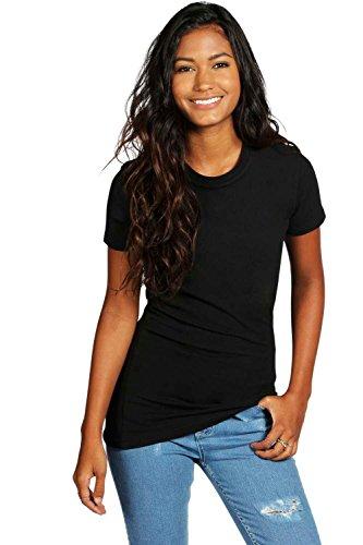 Noir Femmes Sophie Basic Crew Neck T-Shirt Noir