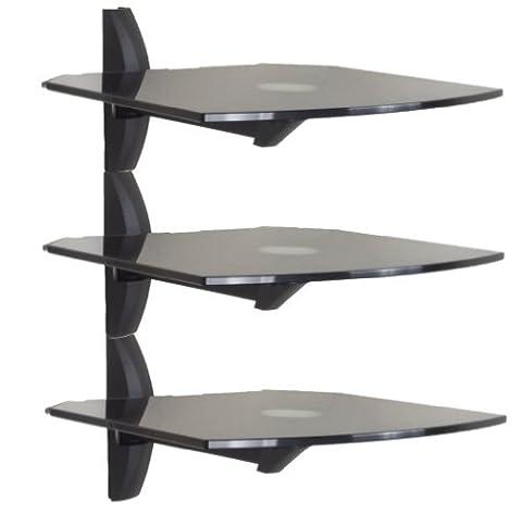 Invision® Ultra Moderne Wand Befestigter Glasregal (Satz von 3) -