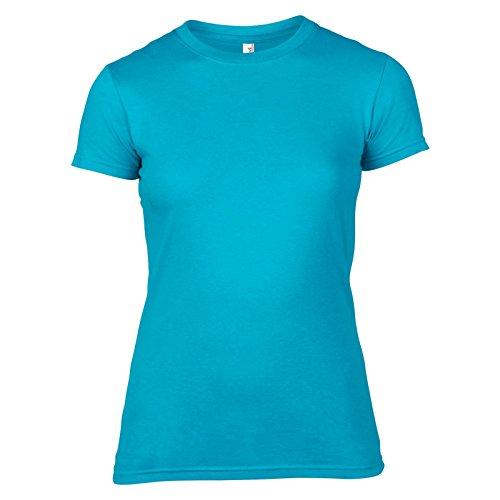 Anvil Damen Modern T-Shirt Karibikblau