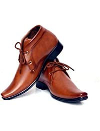 aadi Men's Tan Synthetic Party Formal Shoes