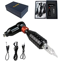 HNCS Maquina de Tatuaje Aluminum Alloy Rotary Tattoo Machine Kits, Tattoo equipos Tattoo Gun Audio Interface Makeup for Body Eyebrow Art Tool