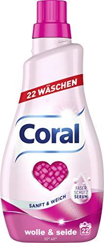 Coral Feinwaschmittel Wolle & Seide flüssig 44 WL, 2er Pack (2 x 22 WL)