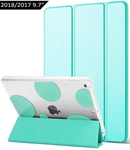 Dailylux iPad 2017 Hülle, iPad 2018 Hülle, Bubble Mint Green, Apple New iPad 9.7 inch 2017 2018