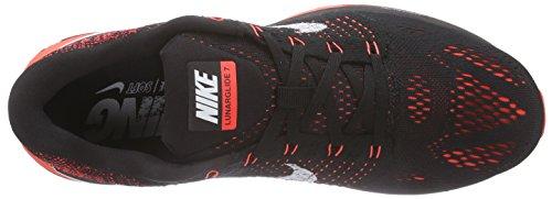 Nike Herren Lunarglide 7 Laufschuhe Schwarz (Black/Summit White-Bright Crimson)
