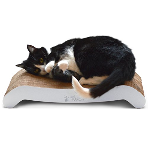 new-in-fr-petfusion-reversible-curve-cat-scratcher-flip-over-for-two-designs-in-one-46-star-amazonco