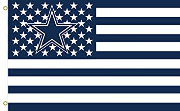 NFL Dallas Cowboys Stars and Stripes Flagge Banner - 3 x 5 ft