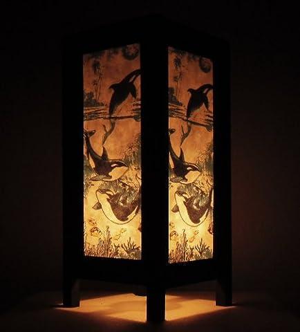 Rare Asie thaï Lampe de Tables Bouddha Style Chevet Orque Par Thaïlande