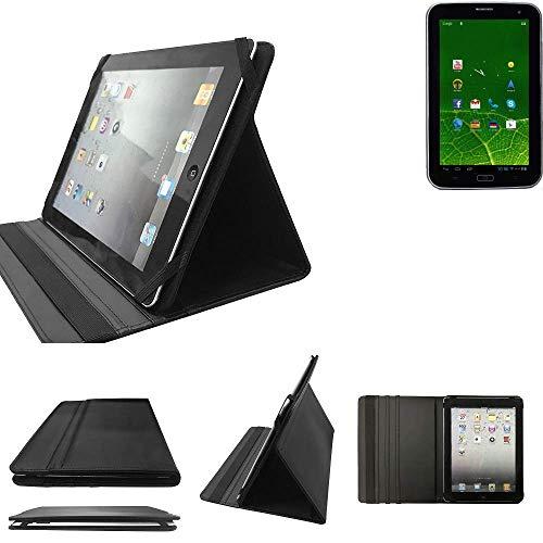K-S-Trade Xoro TelePad 730 Schutz Hülle Business Case Tablet Schutzhülle Flip Cover Ultra Slim Bookstyle Tasche für Xoro TelePad 730, schwarz. Kunstleder Qualitätsware