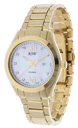 RSW RSW6240 - Orologio da donna analogico al quarzo, in acciaio...