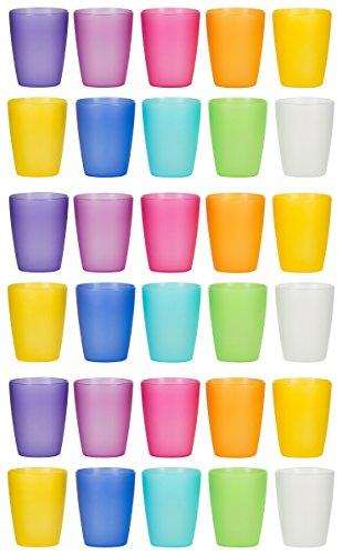 (Kigima Trinkbecher Rainbow 0,24l 30er Set extra stabil)