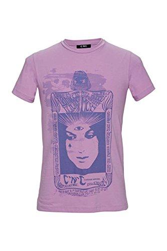 Costume national c'n'c maglietta stampata mysterie card 1, colore: rosa antico, taglia: m