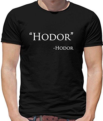 Hodor Quote - Herren T-Shirt - Schwarz - XXXL