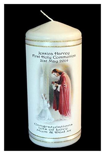 Cellini personalisierbar Kerze Karte Geschenk Erstkommunion, Konfirmation oder jeden besonderen Anlass Geschenk macht.