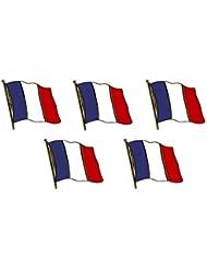Lot de 5 pin flaggenpin yantec drapeau de la france