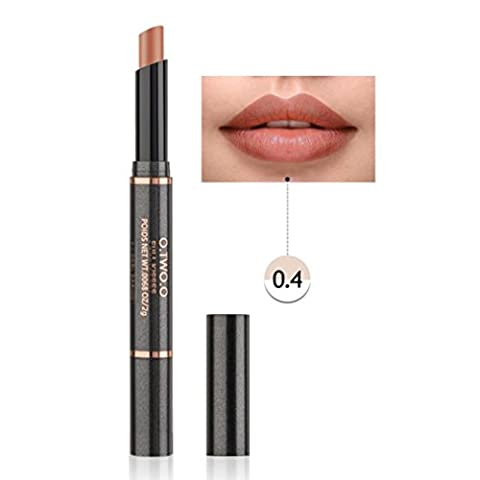 12 Colors Double Head Waterproof Long Lasting Matte Lip Glosses,Mingfa Women Ladies Sexy Durable Moisturizing Lipstick Lip Liner