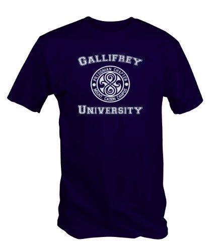 6 TEE NINERS Universität von Gallifrey T-Shirt (Erhältlich in Blau, Schwarz und Rot Größen von S bis XXL) Blau