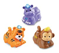 VTech Baby Toot-Toot Animals 3-Pack - Tiger, Hippo and Monkey