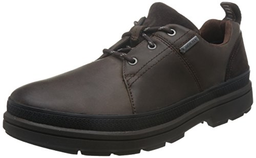 Clarks Rushwaylacegtx, Derby para Hombre, Marrón Dark Brown Lea, 43 EU