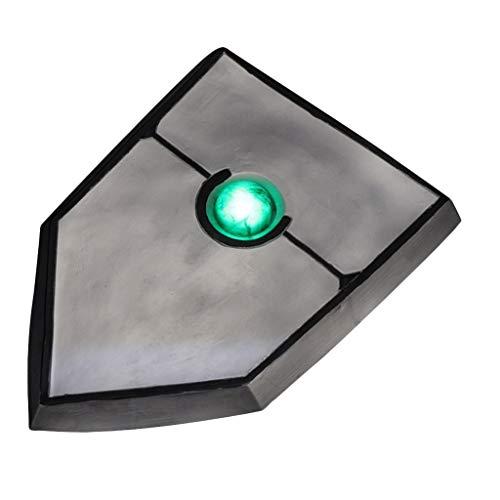 nihiug Shield Brave Wird Verzeichnis Shield Iwatani Shangwen Glow Shield Spiel Zubehör Requisiten Waffen Cosplay Halloween,Silver-OneSize