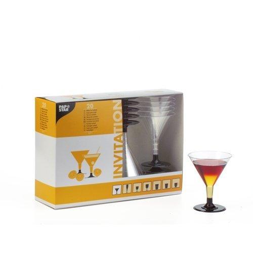 einweg cocktailglaeser Stielgläser / Gläser für COCKTAILS (glasklar / 0,1 l - 20 Stück) in praktischer Box