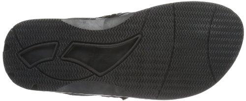 Buffalo 2025-169 Leather Cotton, Tongs homme Noir - Schwarz (BLACK866)