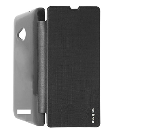 Cell-loid Black color flip cover for Micromax Canvas Spark 3 (Q 385)