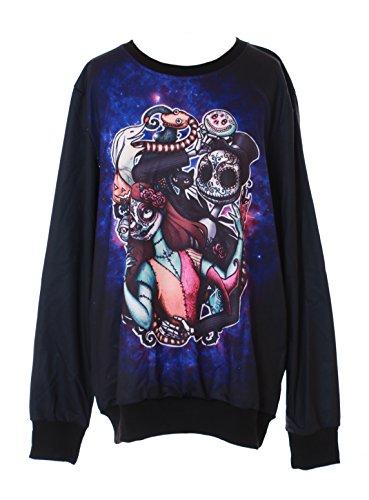 Kawaii-Story TY-YS-1003 Black Totes Paar Tattoo Dead Fantasy Gothic Punk Sweatshirt Pullover Japan Harajuku
