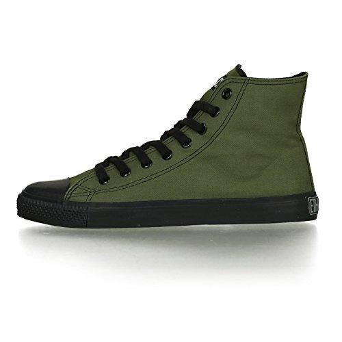 Ethletic Black Cap HiCut / High-Sneaker aus Bio-Baumwolle – grün / schwarz – fair & nachhaltig - 3