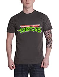 Officially Licensed Merchandise TMNT - Classic Logo T-Shirt (D.Grey)