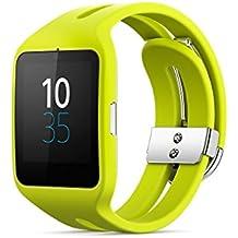 Sony SmartWatch 3 SWR50 - relojes inteligentes (Plaza, Amarillo, Amarillo, Resistente al agua, USB)