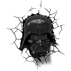 3D Light Fx Lampada LED 3Dlightfx-Star Wars Ep7 Darth Vader Face con Timer, Bianco/Nero, 27 x 14.5 x 32 cm