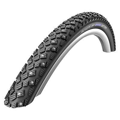 Schwalbe Marathon Winter Plus Fahrrad Reifen // 42-622 (28×1,60´´), Ausführung:schwarz, Drahtreifen