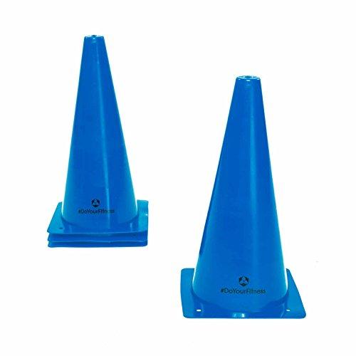 #DoYourFitness Markierkegel/Pylonen - Größe der Kegel 15cm, 23cm o. 30cm - Stückzahl 1/3/6 - Markierungshüttchen für Koordinations-/Agilitytraining : 3X Small (Blau)