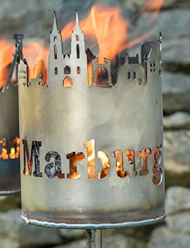 Metalldesign Vehmeier Gartenfackel Skyline Marburg