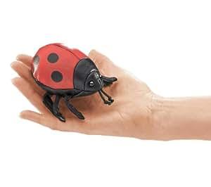 Folkmanis Puppets - 2726 - Marionnette et Théâtre - Mini Ladybug - New Version