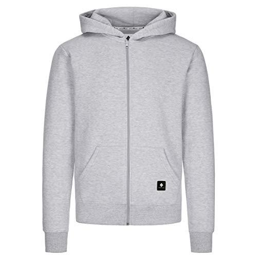 urban ace | Zip Hoodie, Sweatjacke, Pullover-Jacke | Herren, Unisex | für Fitness und Freizeit | grau oder schwarz | weich, mit hochwertiger Verarbeitung | S, M, L, XL (grau, L) Herren Zip-hoodies
