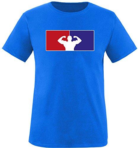 ezyshirt® Fitness Herren Rundhals T-Shirt Royal/Bunt