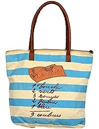 Priti Vintage Design Handbag Tote Bag Travel Bag In Washed Canvas Leather Women's Handbag