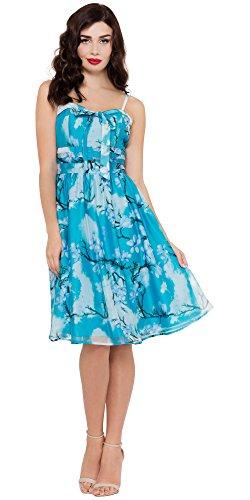 Voodoo Vixen Kleid CLARA DRESS 8143 Blau L