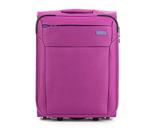 WITTCHEN Koffer - Weich | 55x40x20cm, 35 L, 2.5 KG | Material: Polyester, Fuchsie | Kollektion: VIP COLLECTION - V25-3S-221-33