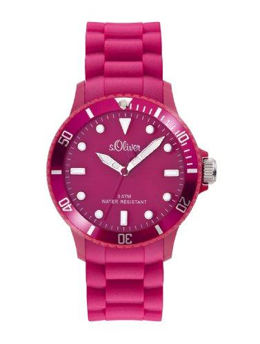 s.Oliver Unisex-Armbanduhr Medium Size Silikon pink SO-2293-PQ