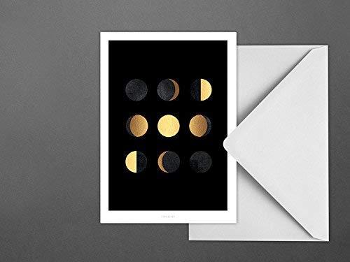 Postkarte/Mondphasen