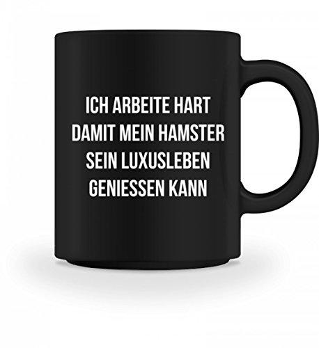 shirt-o-magic Ich arbeite hart für meinen Hamster - Geschenk Hamster-Besitzer Hamster-Halter - Tasse