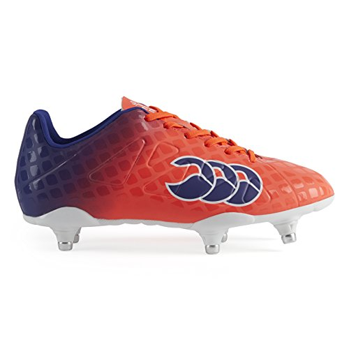 Canterbury Speed Club 6 Stud, Chaussures de Rugby Mixte Enfant, Rouge (X20 Firecracker), 36 EU