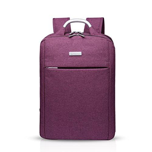 FANDARE Zaino 15.6 Pollici Portabile Laptop PC Notebook Computer Macbook Schoolbag Viaggi Esterno Uomo Donne Scuola Daypack Borsa Multifunzione Alta Capacità Impermeabile Poliestere Viola