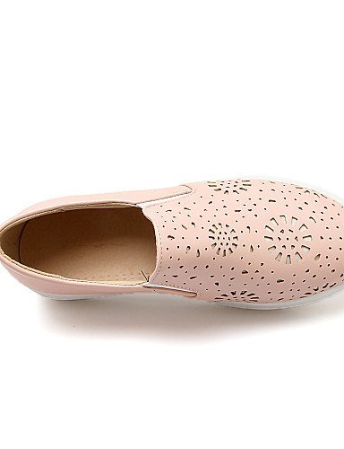 ShangYi gyht Scarpe Donna-Mocassini-Casual-Punta arrotondata-Basso-Finta pelle-Nero / Rosa / Bianco Pink